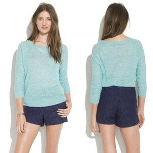 Madewell Navy Lacebloom Lace Shorts